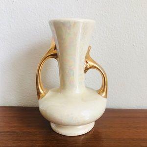 Vtg Art Deco / mid century modern lusterware vase